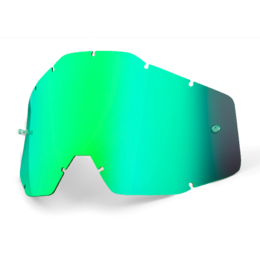 Линза 100% Racecraft/Accuri/Strata Anti-Fog Green Mirror