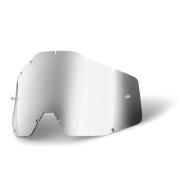 Линза 100% Racecraft/Accuri/Strata Anti-Fog Silver Mirror