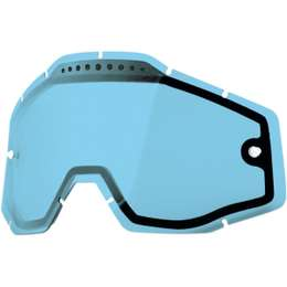 Линза 100% Racecraft/Accuri/Strata Vented Dual Pane Lens Anti-Fog Blue