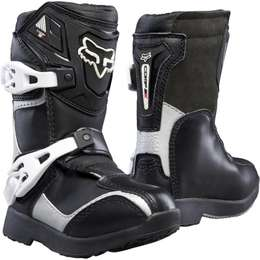 Мотоботы детские Fox Comp 5 Pee Wee Boys Boots Black/Silver