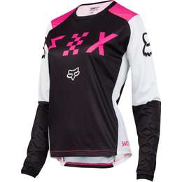 Мотоджерси женская Fox Switch Womens Jersey Black/Pink
