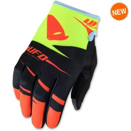 "Мотоперчатки  UFO ""HYDRA""  GLOVE Red Fluo"