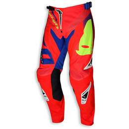 "Мотоштаны UFO ""SEQUENCE"" PANTS Red Fluo"