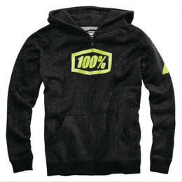 Толстовка подростковая 100% Syndicate Youth Zip Hooded Sweatshirt Black Heather