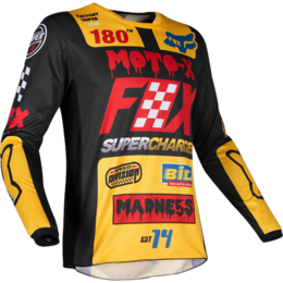 Мотоджерси Fox 180 Czar Jersey Black/Yellow