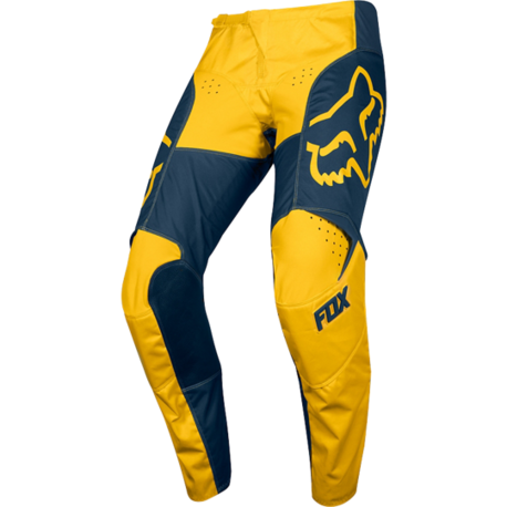 Мотоштаны Fox 180 Przm Pant Navy/Yellow