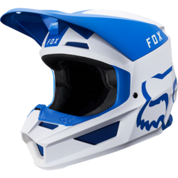 Мотошлем Fox V1 Mata Helmet Blue/White