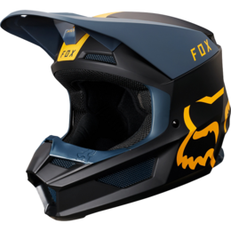 Мотошлем Fox V1 Mata Helmet Navy/Yellow