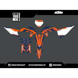 Набор наклеек для KTM SX -125/250 SX-F -250/350/450 (2019-20) Orange Blue