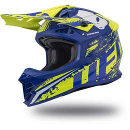 Мотошлем UFO HELMET INTREPID Blue-Neon Yellow