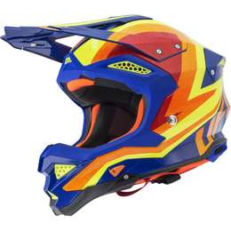 Мотошлем UFO HELMET DIAMOND 2020 Blue/yellow/orange