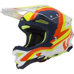 Мотошлем UFO HELMET DIAMOND 2020 White/Blue/Neon yellow