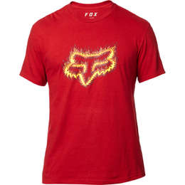 Футболка Fox Flame Head SS Tee Cardinal