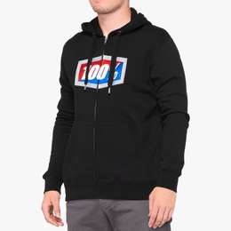 Толстовка 100% Official Zip Hooded Sweatshirt 100% Black