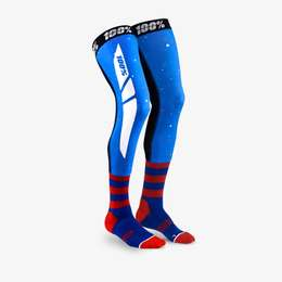 Чулки 100% Rev Knee Brace Performance Moto Socks Blue/Red