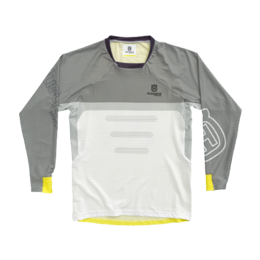 Мотоджерси подростковая Husqvarna Kids Railed Shirt Grey/White/Yellow